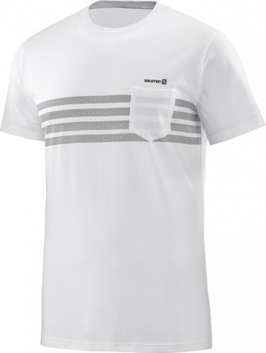 Футболка SALOMON COLOR BLOCK SS TEE M муж. SS18 белый L